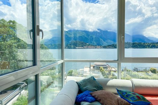 lake front apartment in griante