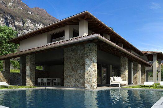 brand new villa in tremezzina