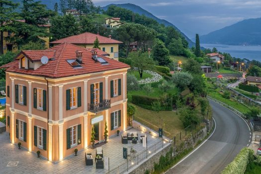 villa with swimming pool in menaggio