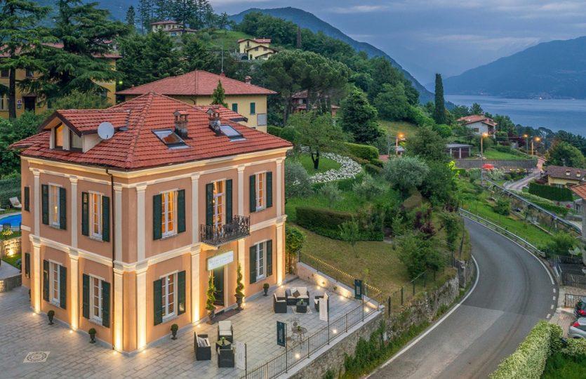 villa with swimming pool in menaggio