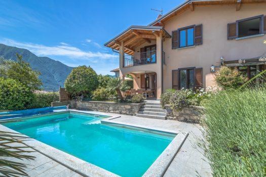 villa con piscina in tremezzina