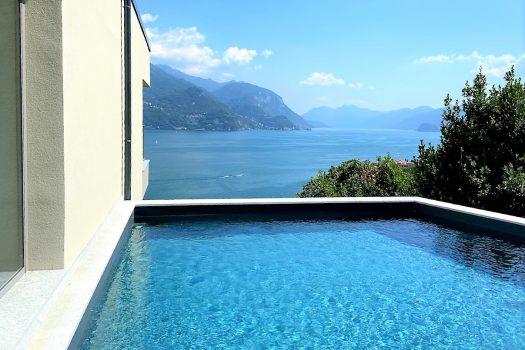 nuovissimi appartamenti con piscina a san siro - vista lago straordinaria